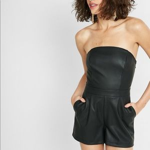 NWT Express Leather Romper Size 0